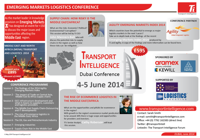 Emerging Markets Logistics Conference Dubai 2014